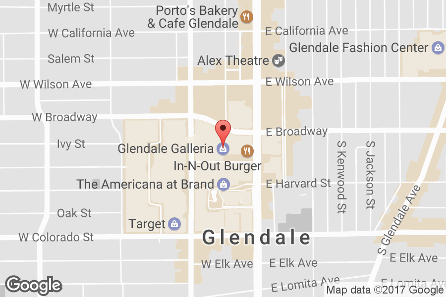 Map of Glendale Galleria - Click to view in Google Maps